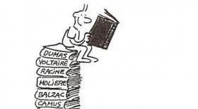 bonhomme sur livres