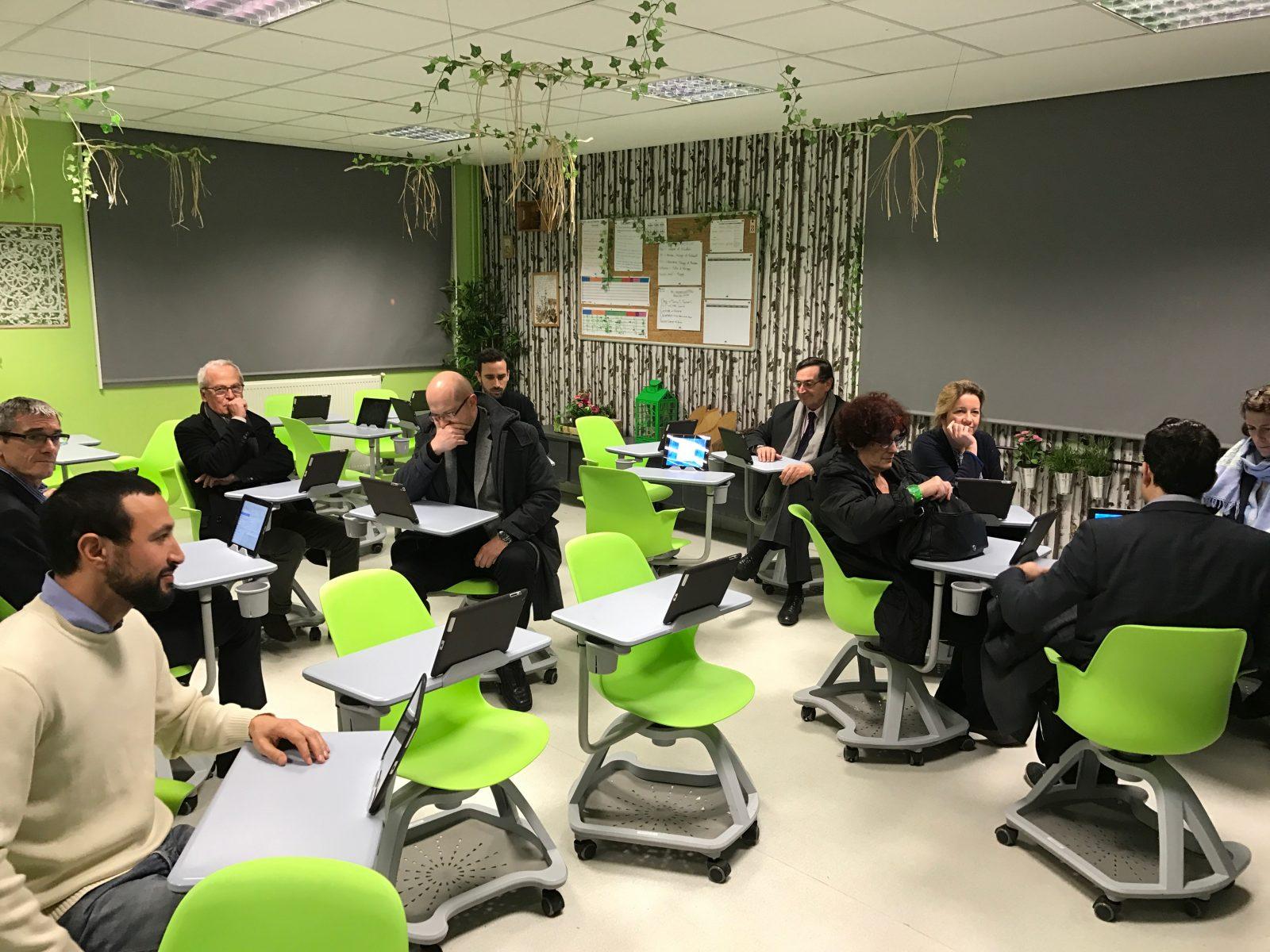 Inauguration salle de classe innovante