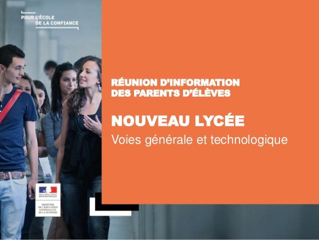 RÉUNION D'INFORMATION DES PARENTS D'ÉLÈVES DE 2DE